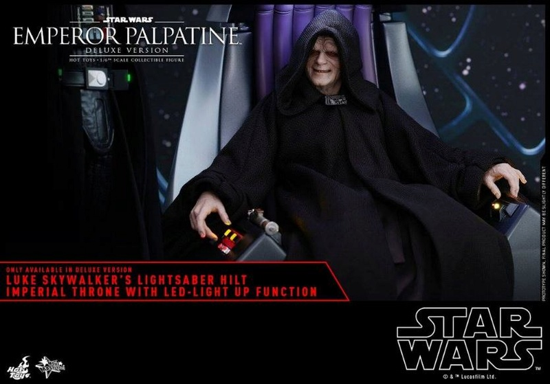 HOT TOYS - Star Wars EP6 - 1/6th Emperor Palpatine Deluxe  Empere44