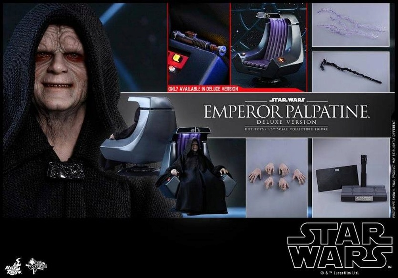 HOT TOYS - Star Wars EP6 - 1/6th Emperor Palpatine Deluxe  Empere64