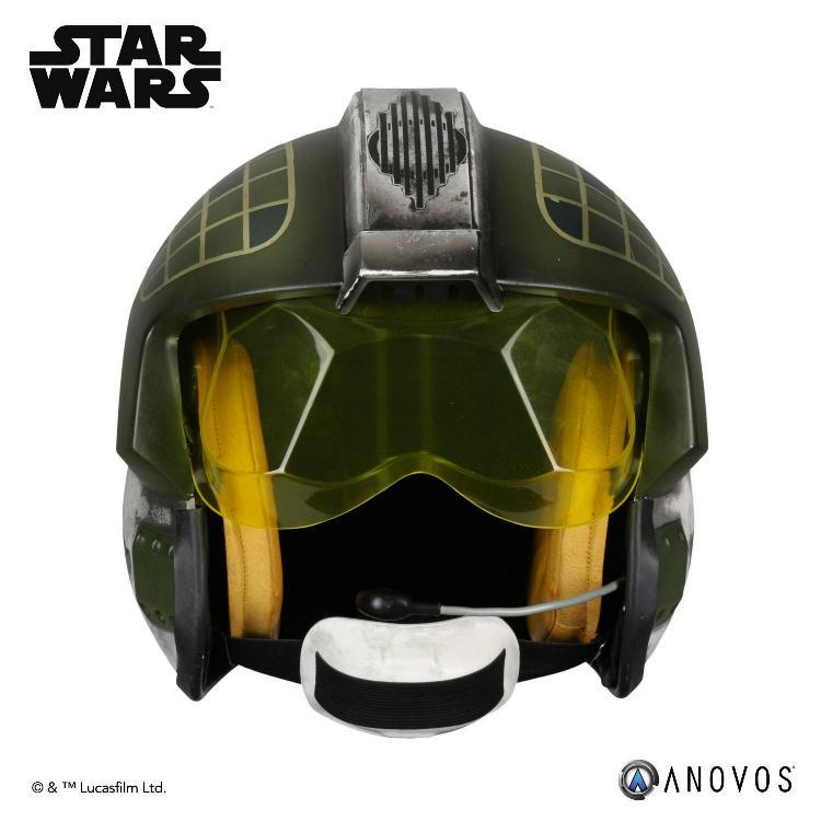 ANOVOS - STAR WARS Gold Leader Rebel Pilot Helmet Accessory Gold_l10