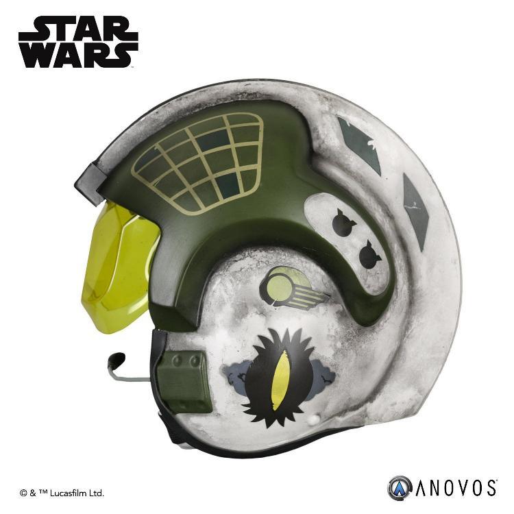 ANOVOS - STAR WARS Gold Leader Rebel Pilot Helmet Accessory Gold_l12