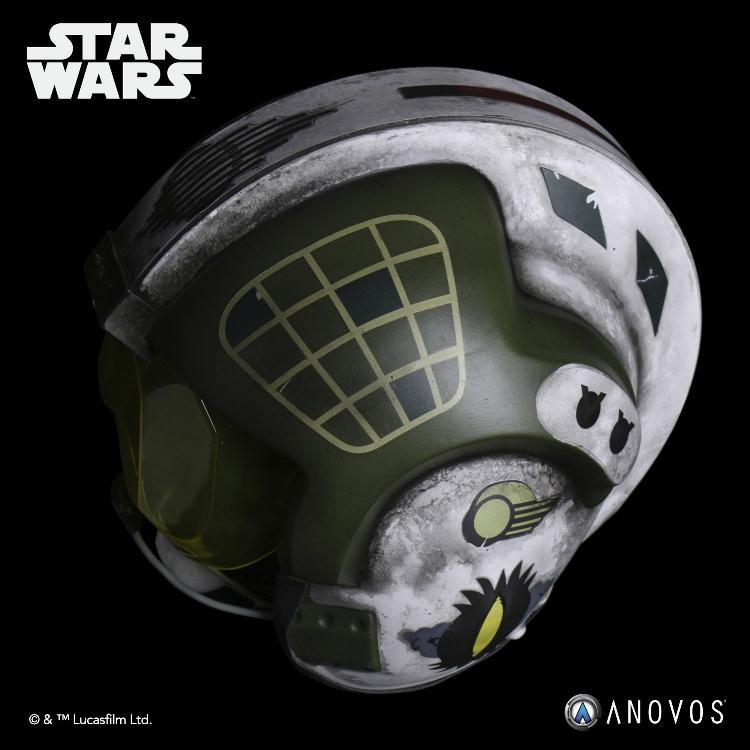 ANOVOS - STAR WARS Gold Leader Rebel Pilot Helmet Accessory Gold_l13