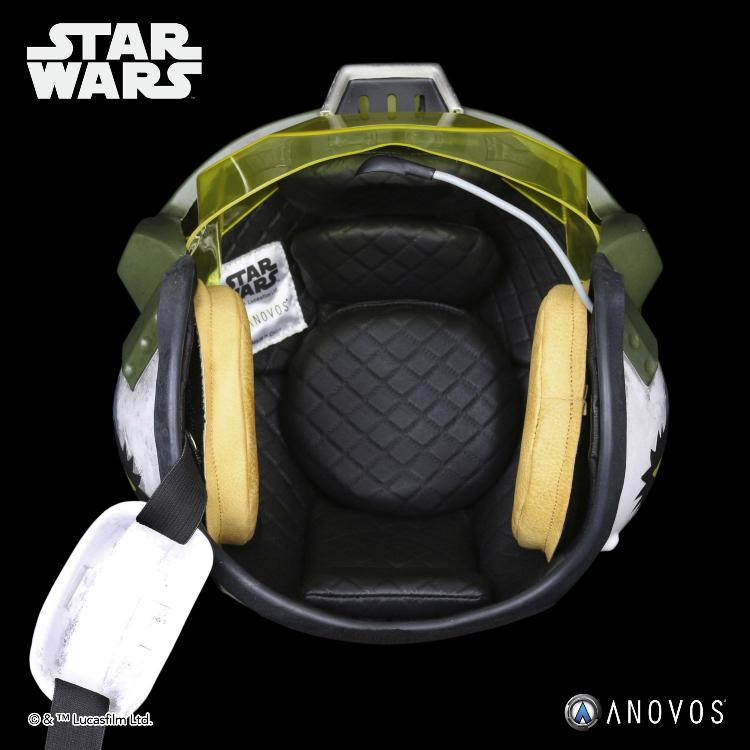 ANOVOS - STAR WARS Gold Leader Rebel Pilot Helmet Accessory Gold_l14