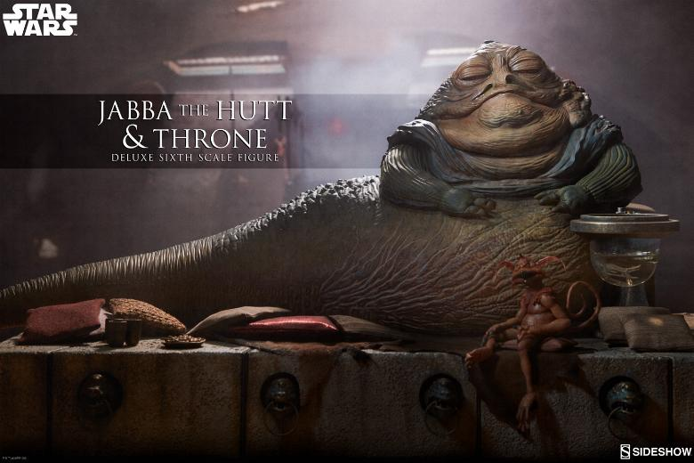 Sideshow - Jabba & Throne Deluxe Sixth Scale Figure Set Jabba_11
