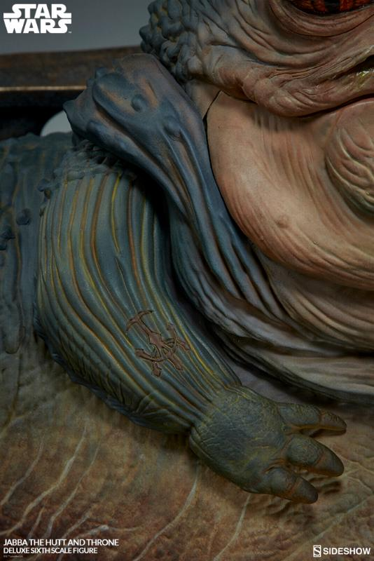 Sideshow - Jabba & Throne Deluxe Sixth Scale Figure Set Jabba_16