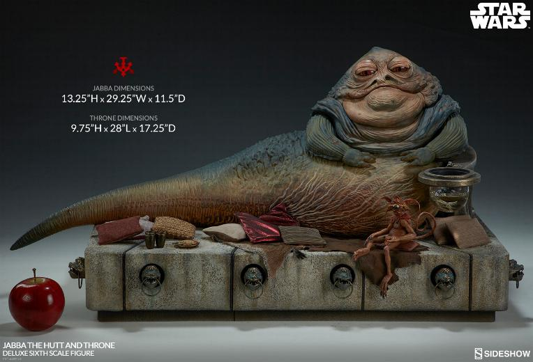 Sideshow - Jabba & Throne Deluxe Sixth Scale Figure Set Jabba_17