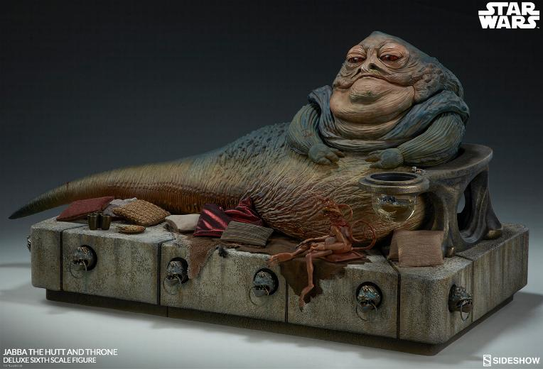 Sideshow - Jabba & Throne Deluxe Sixth Scale Figure Set Jabba_19