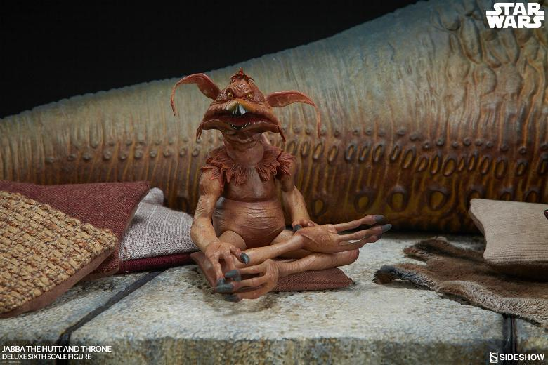 Sideshow - Jabba & Throne Deluxe Sixth Scale Figure Set Jabba_23