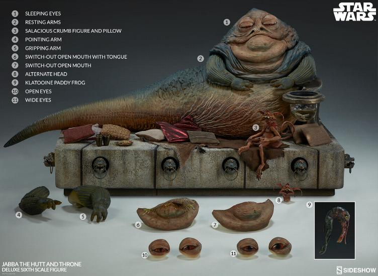 Sideshow - Jabba & Throne Deluxe Sixth Scale Figure Set Jabba_29
