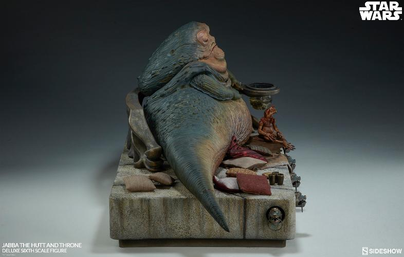Sideshow - Jabba & Throne Deluxe Sixth Scale Figure Set Jabba_35