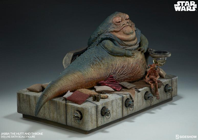 Sideshow - Jabba & Throne Deluxe Sixth Scale Figure Set Jabba_37