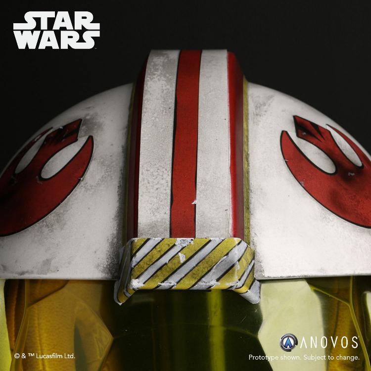 ANOVOS STAR WARS ANH Luke Skywalker Rebel Pilot Helmet  Luke_s10