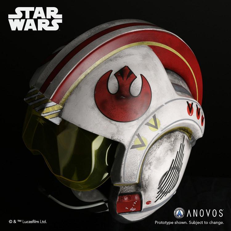 ANOVOS STAR WARS ANH Luke Skywalker Rebel Pilot Helmet  Luke_s11