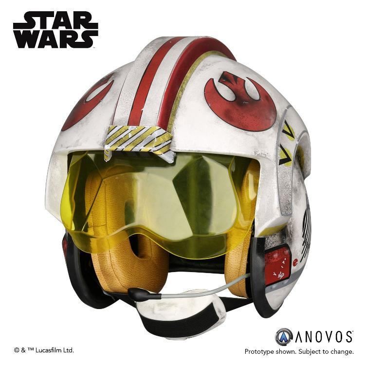 ANOVOS STAR WARS ANH Luke Skywalker Rebel Pilot Helmet  Luke_s12