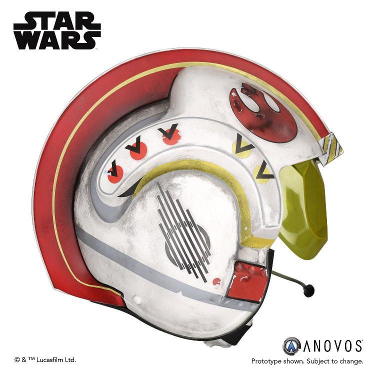 ANOVOS STAR WARS ANH Luke Skywalker Rebel Pilot Helmet  Luke_s15