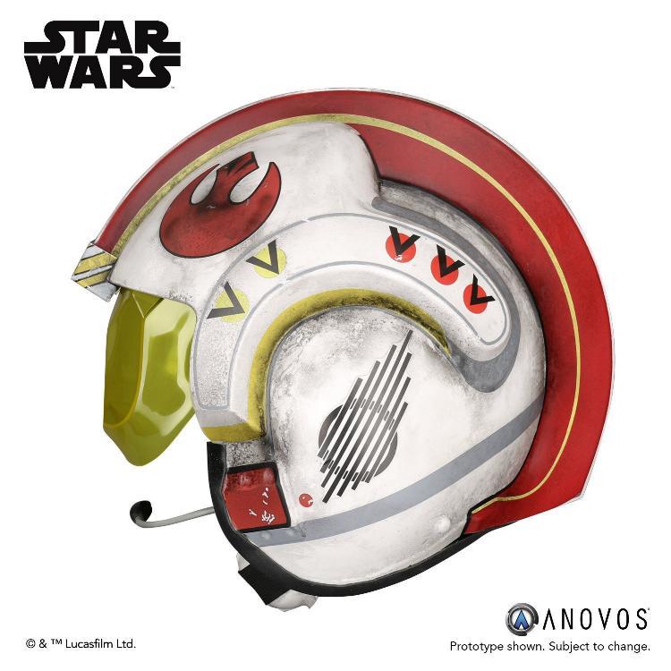 ANOVOS STAR WARS ANH Luke Skywalker Rebel Pilot Helmet  Luke_s16