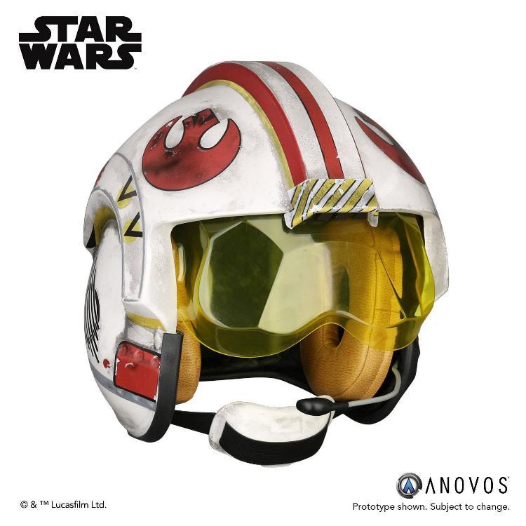 ANOVOS STAR WARS ANH Luke Skywalker Rebel Pilot Helmet  Luke_s17