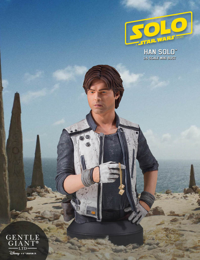 Gentle Giant - Han Solo CORELLIA Mini Bust (Solo ASWS) Soloas12