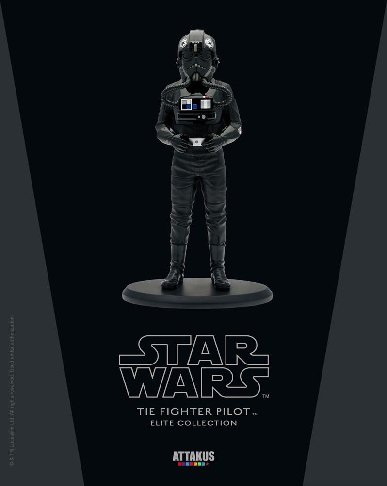 ATTAKUS - Star Wars Elite Collection 1/10 Tie Fighter Pilot  Tiepil10