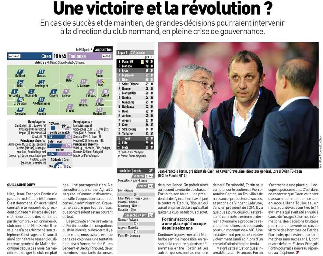 [33e journée de L1] SM Caen 0-0 Toulouse FC - Page 2 Equipe24