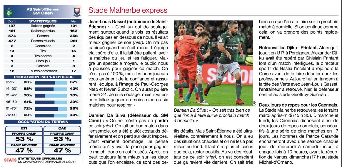 [23e journée de L1] AS Saint Etienne 2-1 SM Caen - Page 3 Of11