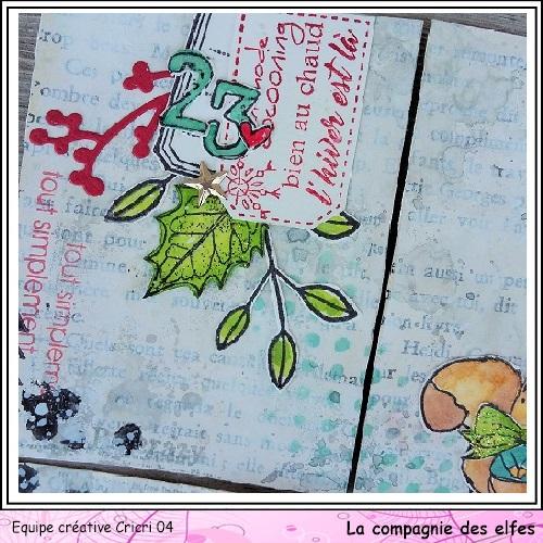 Pocket letter de Cricri en forme de calendrier de l'avent Cricri68