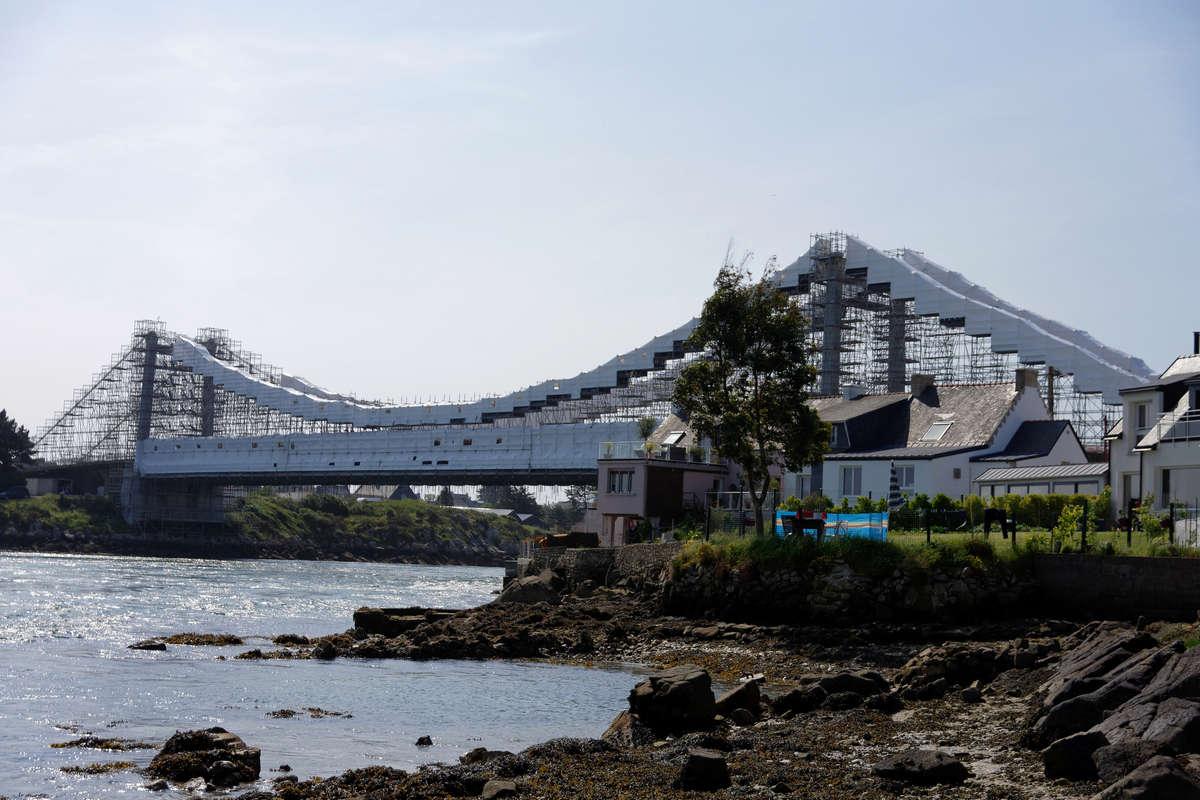 Echafaudage sur pont Le Pont Lorois Morbihan Dsc_3112