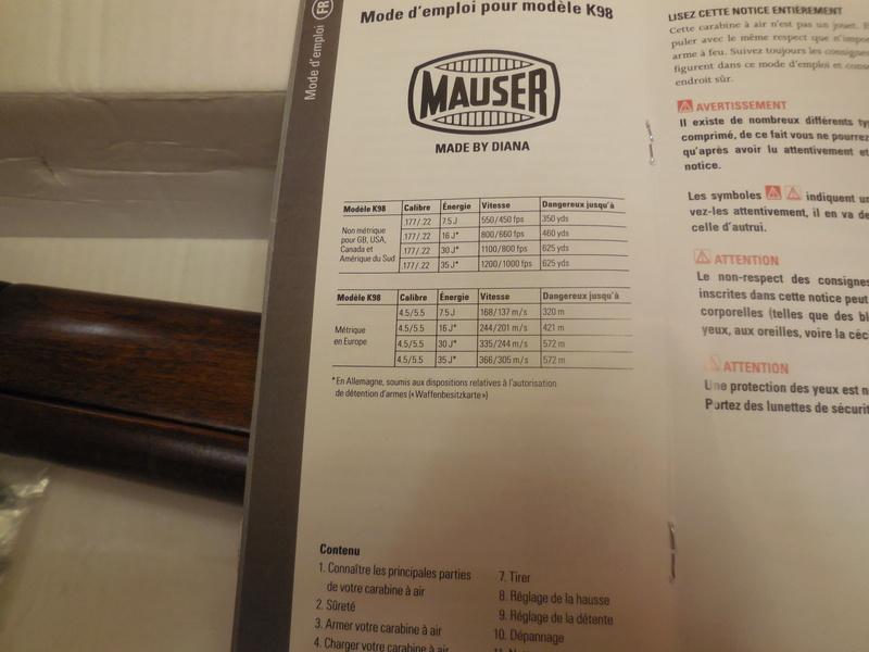 La DIANA réplica MAUSER K98 est arrivé! Dscn2820