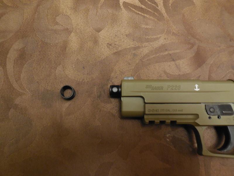 Le Sig Sauer P226 Blow Back plombs Dscn3011