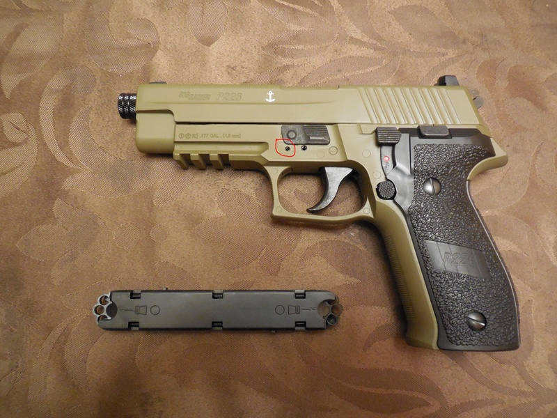 Le Sig Sauer P226 Blow Back plombs - Page 2 Goupil10