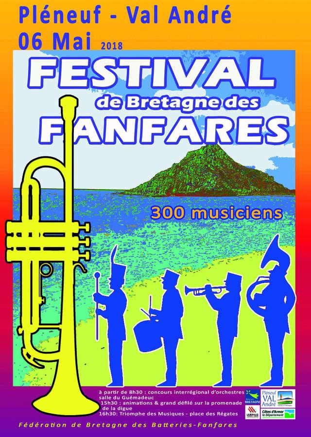 Festival de Bretagne des fanfares le 06 mai 2018 à Pléneuf Val André (22) Festiv37