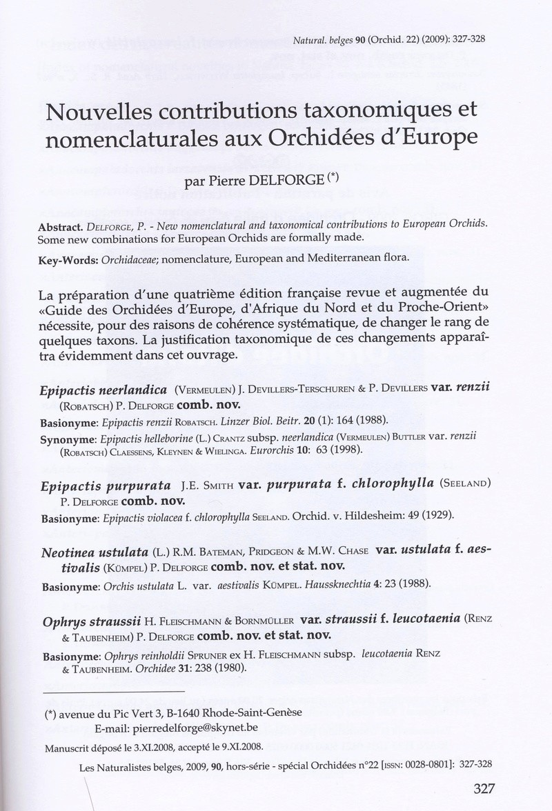article naturaliste belge 2009 Docume10