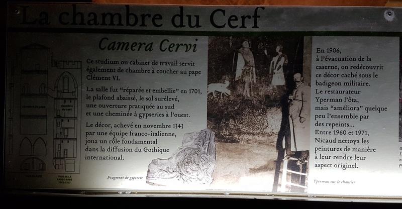 La chambre du cerf du palais des papes d'Avignon Cartel12