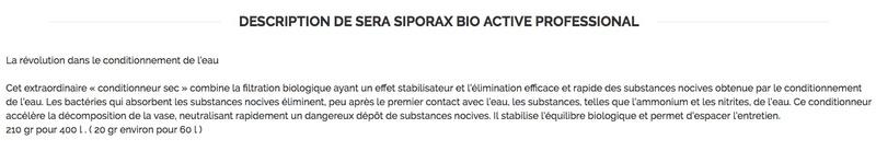SERA Siporax bio actif  Captu878