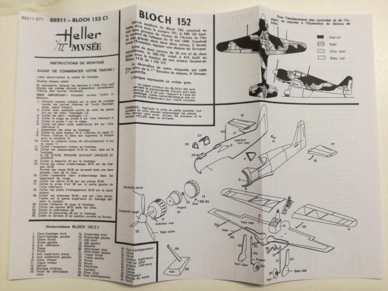 BLOCH MB 152 1/72ème Réf 80211 610
