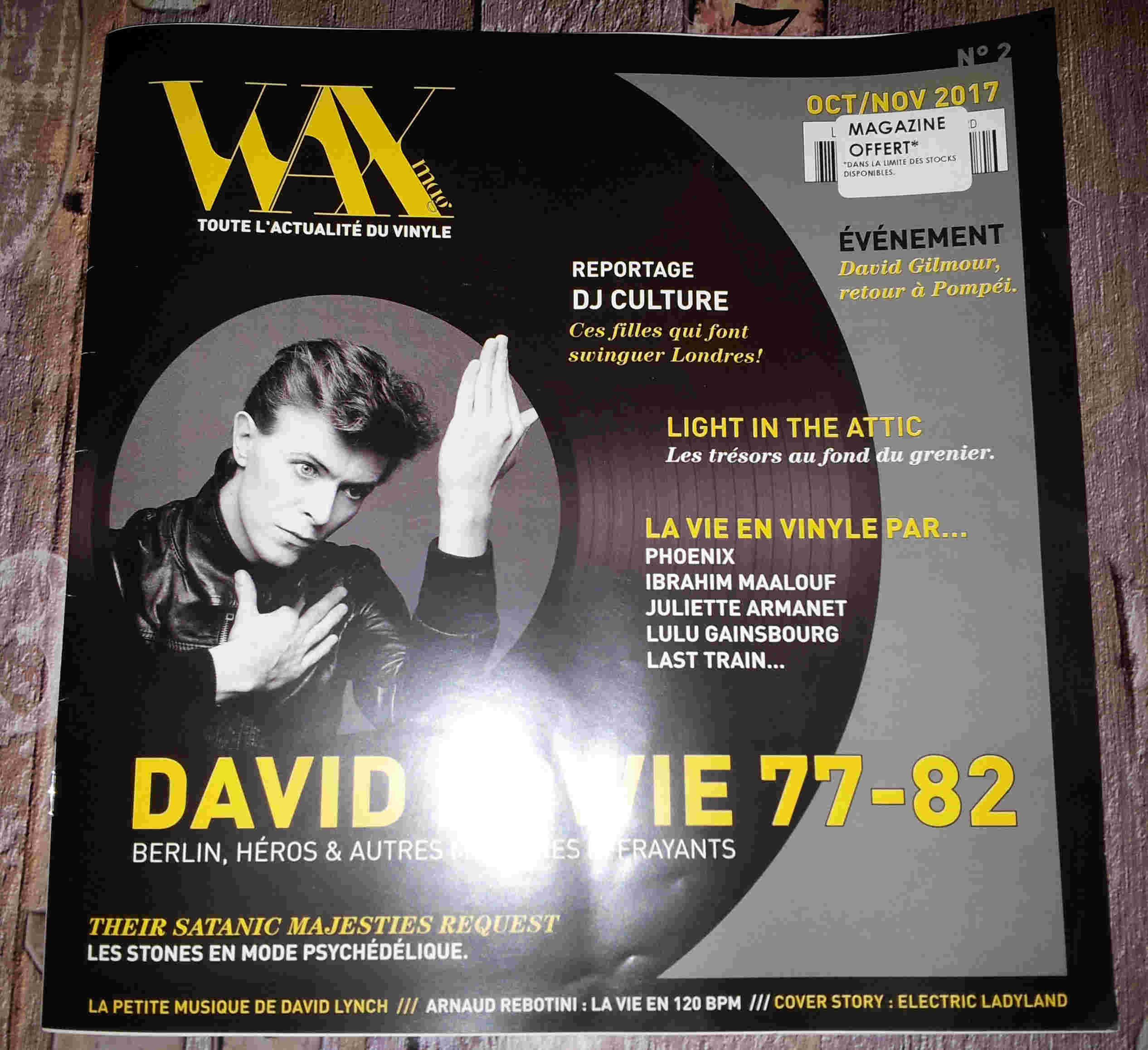WAX toute l'actualité du vinyle  Octobre/Novembre 2017 offert chez CULTURA 011