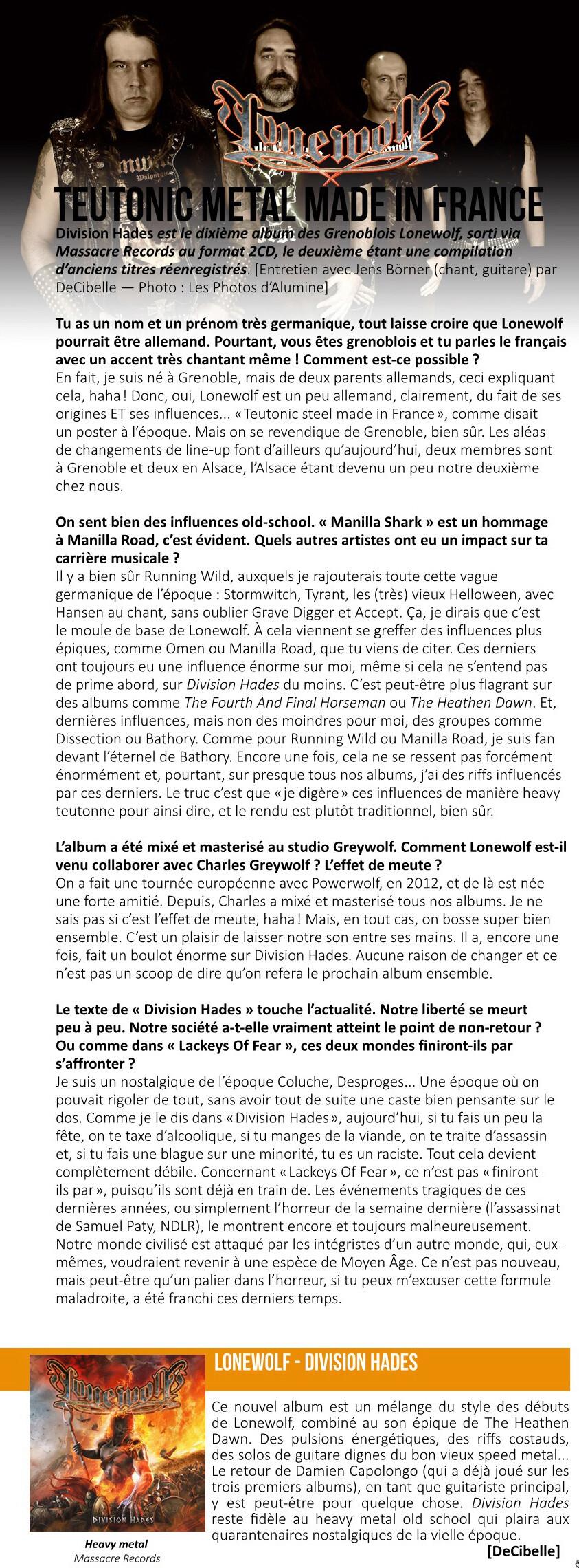 [Heavy] Lonewolf  groupe de Grenoble nouvel album le 25/09/2020 024