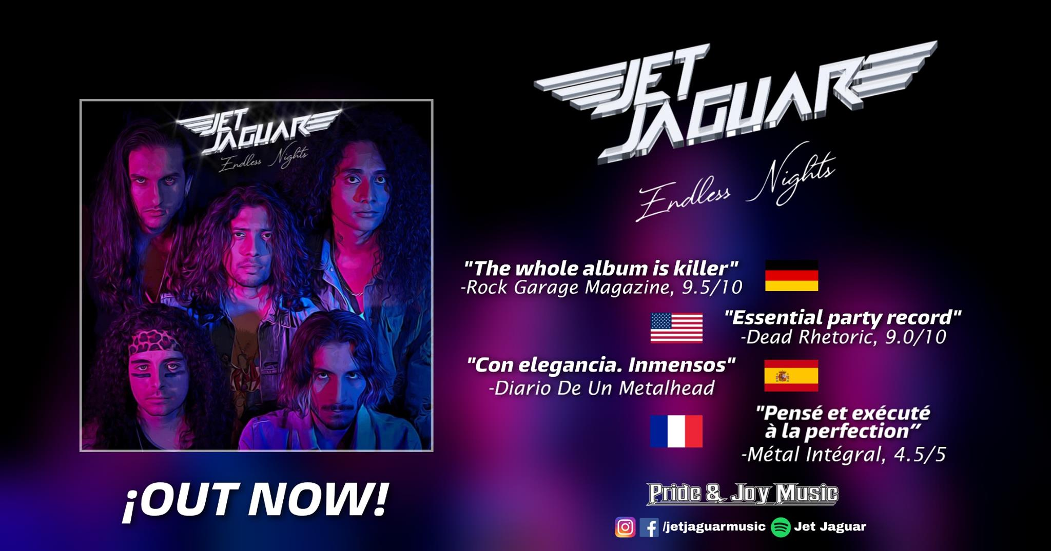 JET JAGUAR Endless Nights (2020) Heavy/Speed Metal MEXIQUE 10927810