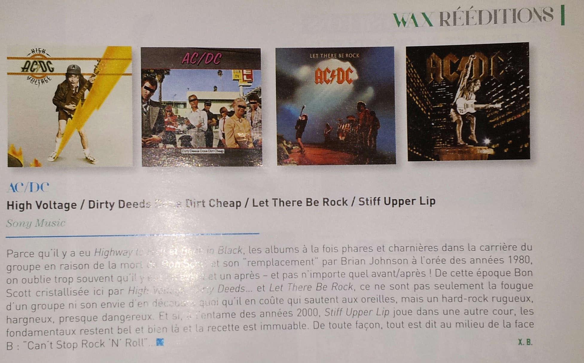 WAX toute l'actualité du vinyle  Octobre/Novembre 2017 offert chez CULTURA 112