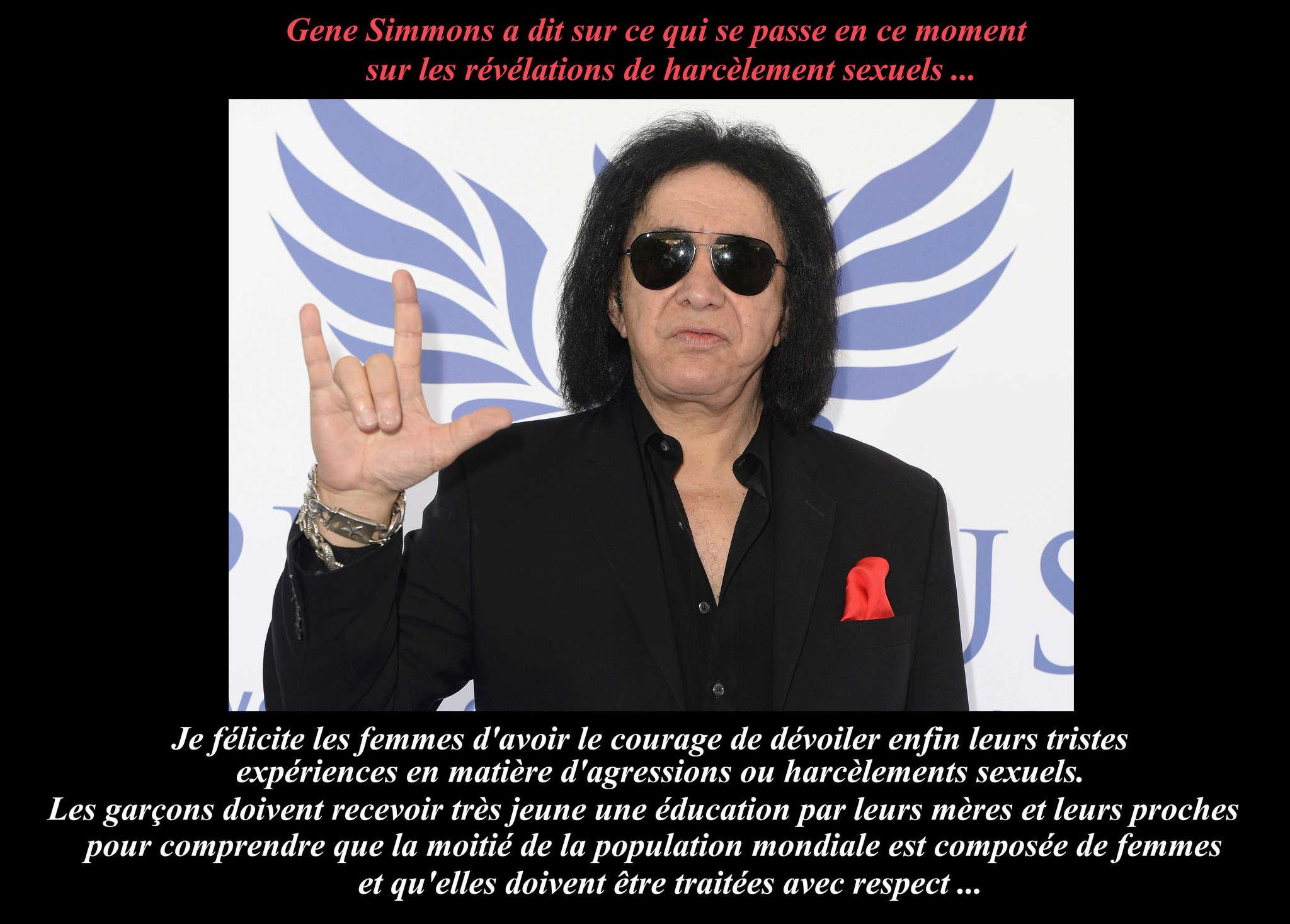 GENE SIMMONS (Kiss) a dit ... sur le harcèlement des femmes. 116