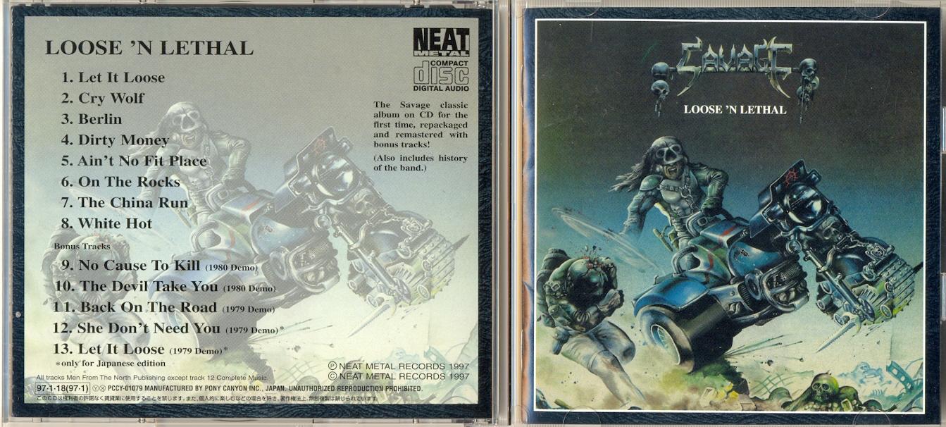 SAVAGE Loose 'N Lethal (1983) Heavy Metal ANGLETERRE 116b8e10