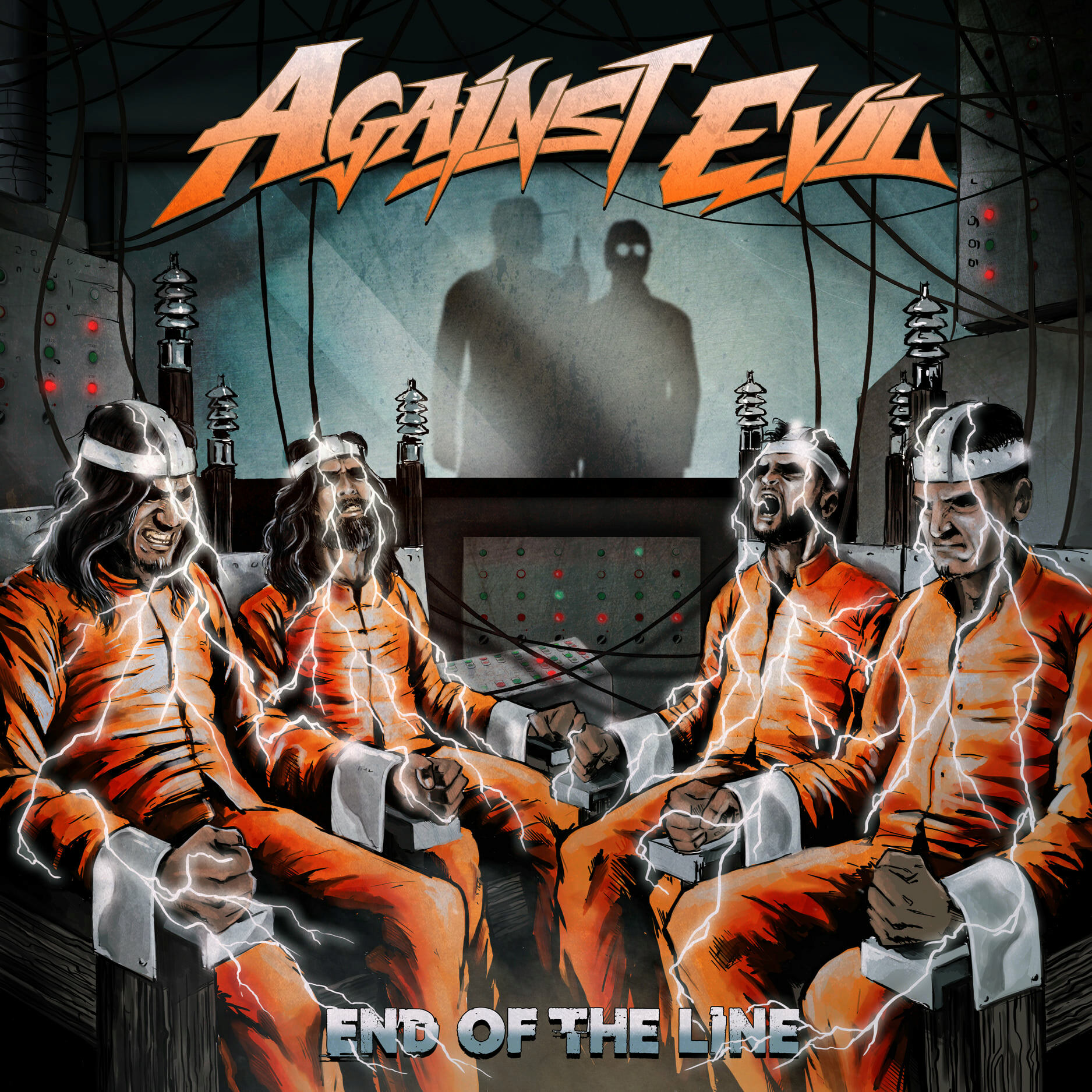 AGAINST EVIL End of the Line (2021) Heavy Metal INDE 15046610