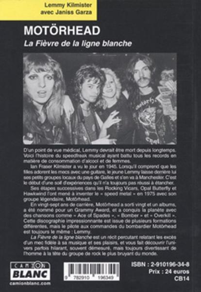 MOTORHEAD La fièvre de la ligne blanche Editions du CAMION BLANC ... 15937010