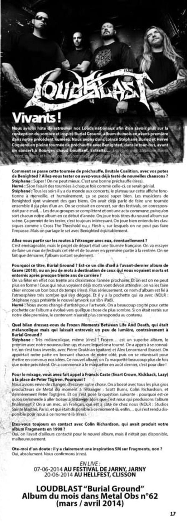 LOUDBLAST dans METALOBS n°63 (Archive de 2014) 19025011