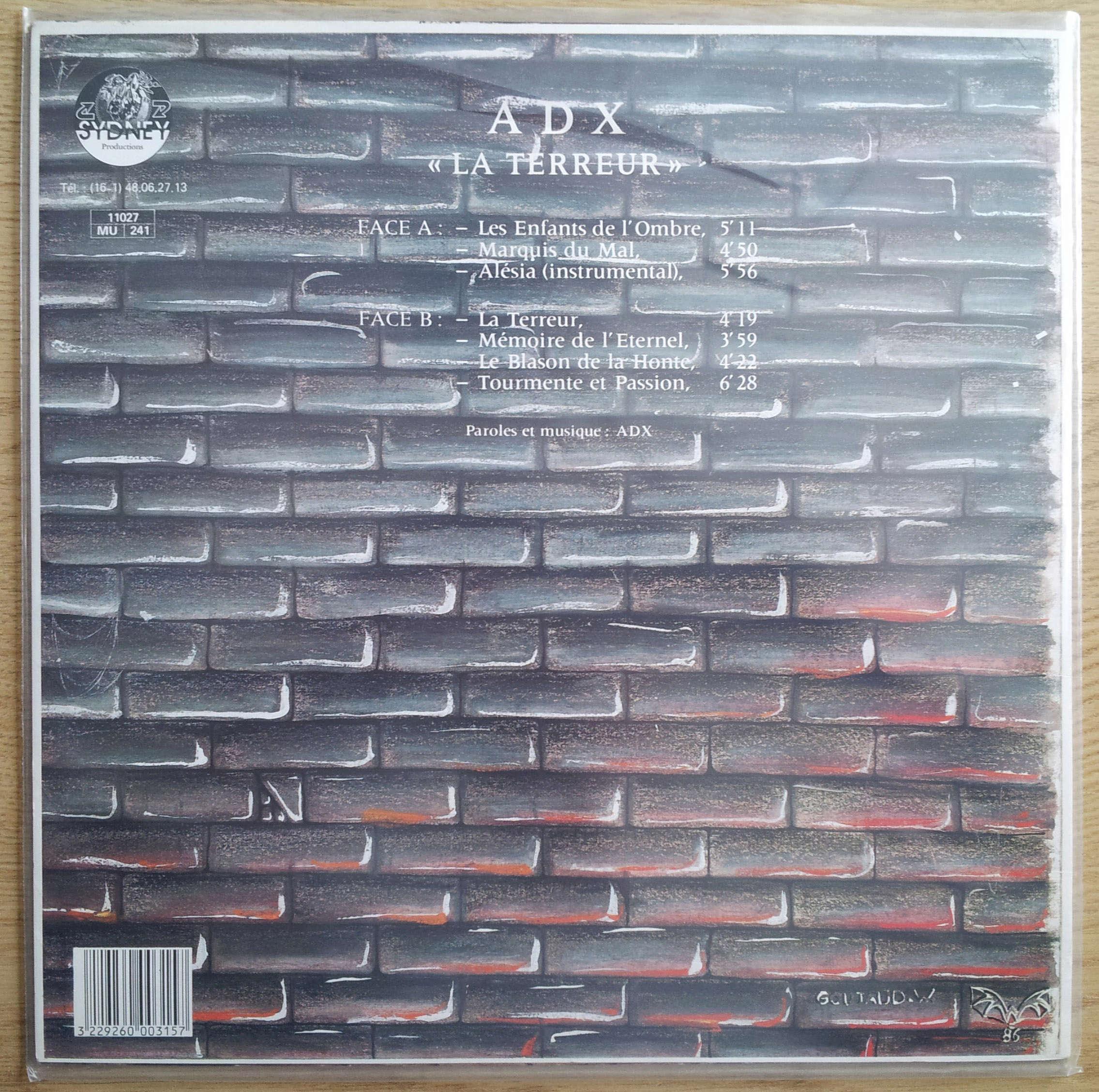 ADX La terreur (1986) (Toutes les paroles) 20180513