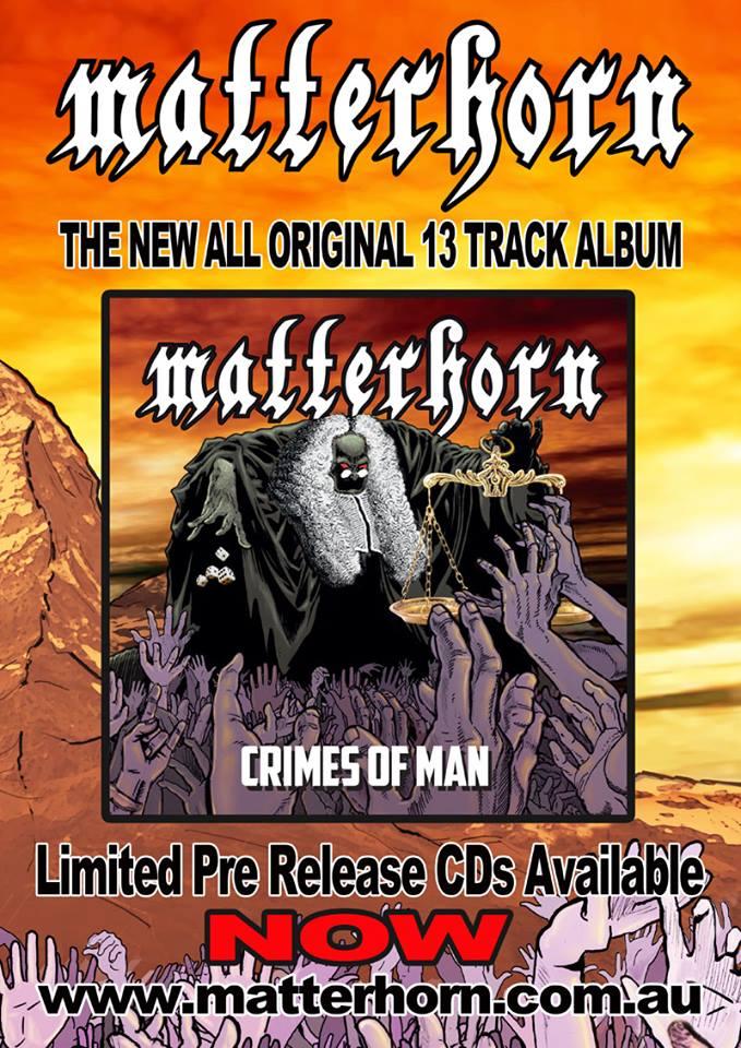 MATTERHORN Crimes of Man (2018) Heavy Metal Australie 23659510