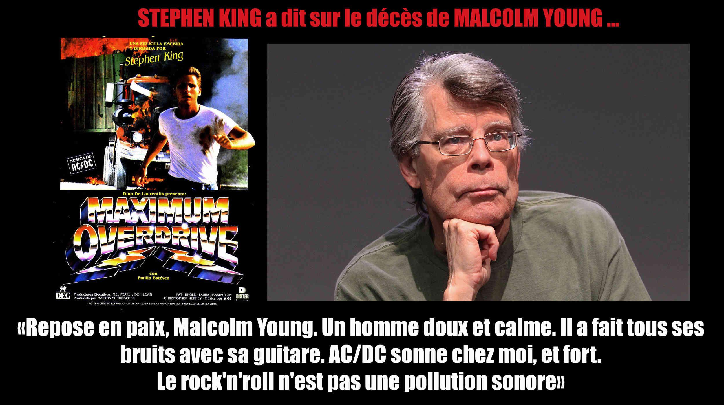 STEPHEN KING a dit ... sur le décès de MALCOLM YOUNG ... 250010
