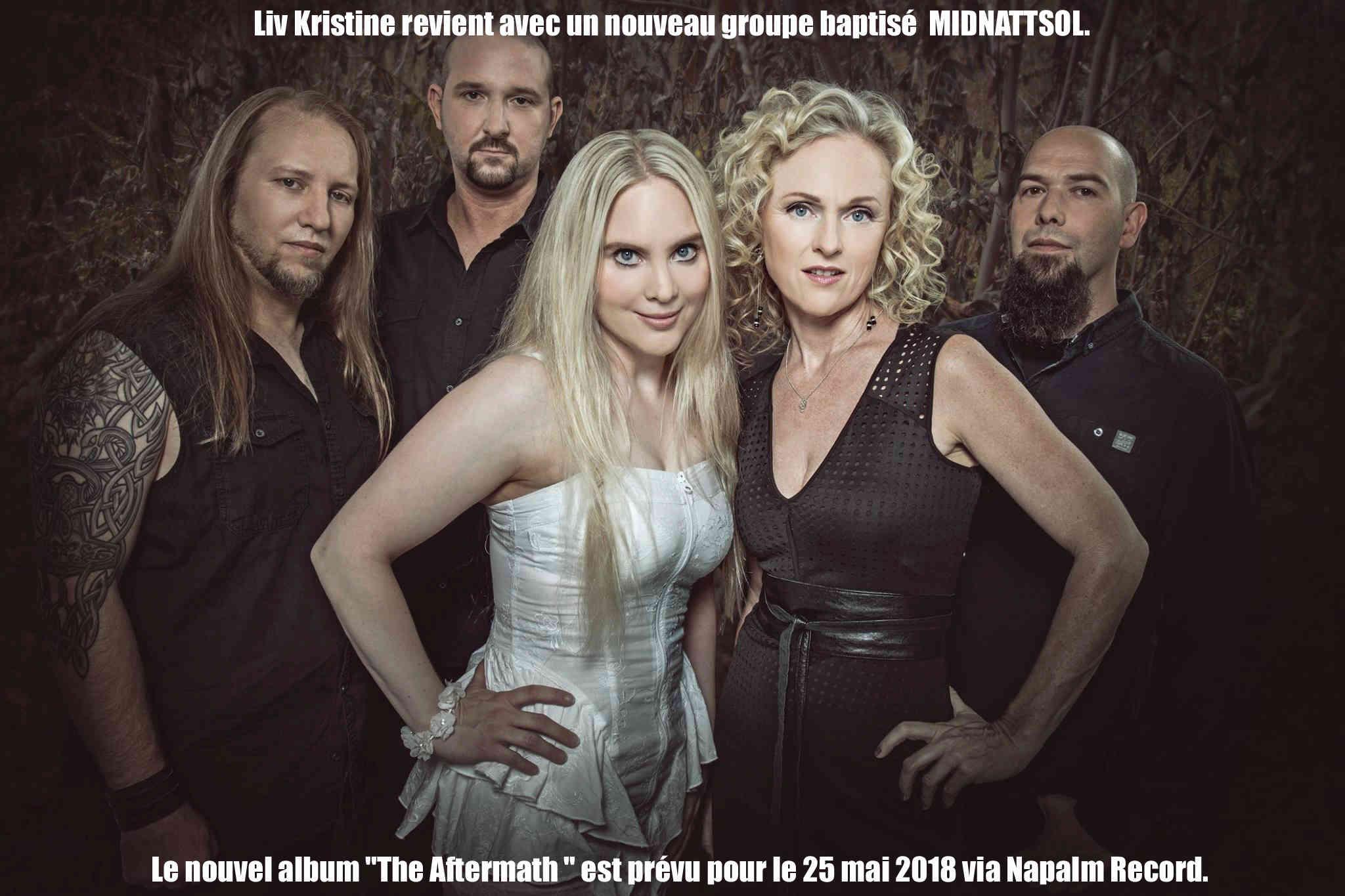 MIDNATTSOL The Aftermath (2018) Metal Symphonique Nouveau groupe de LIV KRISTINE 25358210