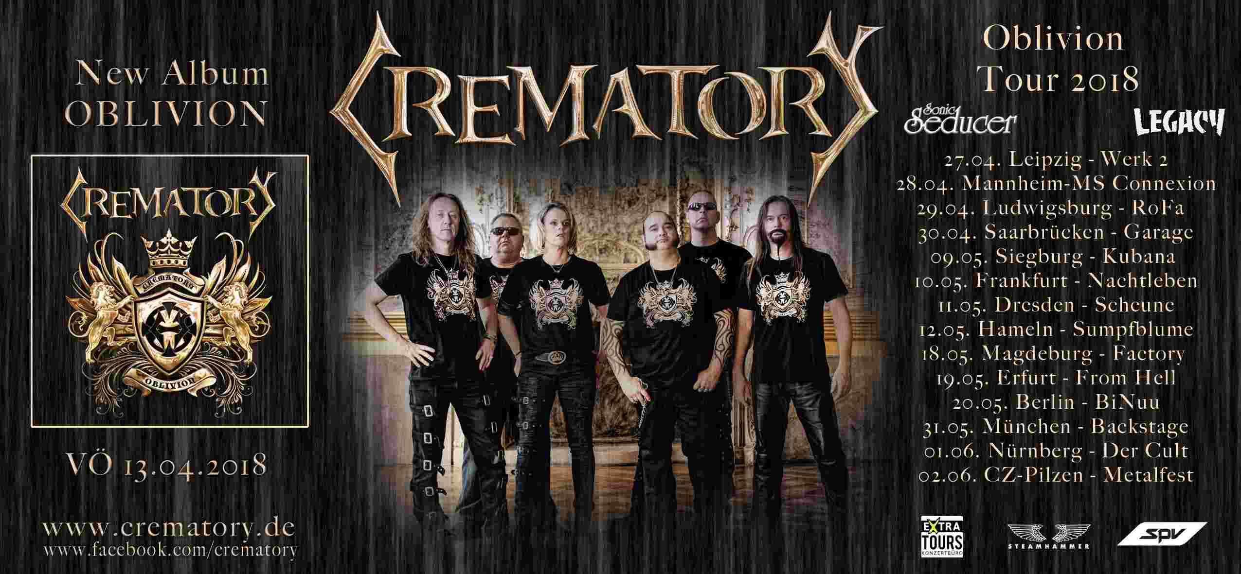 CREMATORY Oblivion (2018) Gothic Metal ALLEMAGNE 27368610