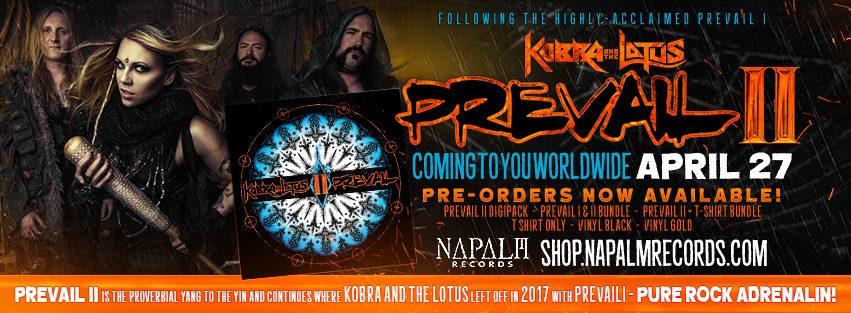 KOBRA AND THE LOTUS Prevail II (2018) Heavy Metal  27540110