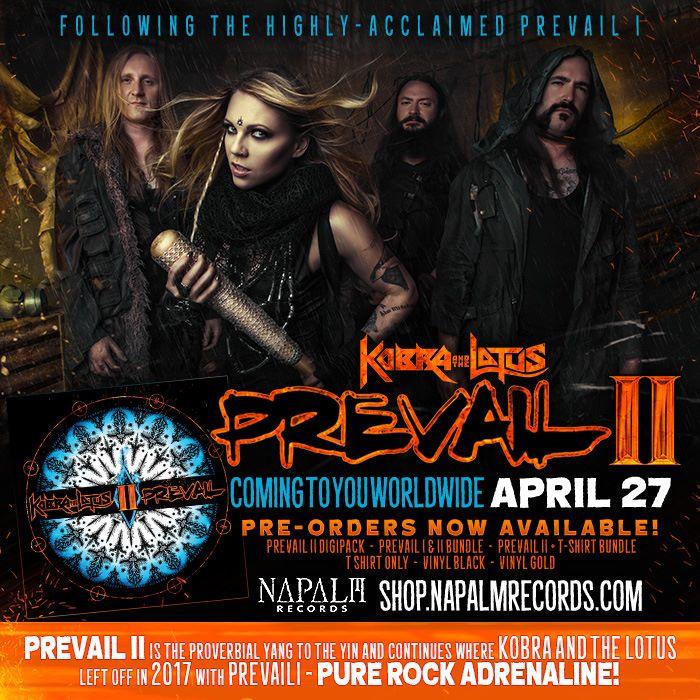KOBRA AND THE LOTUS Prevail II (2018) Heavy Metal  27540510